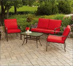 Mainstays Patio Set Red by Vintage Patio Design With 4 Piece Mainstays Patio Furniture And