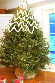 Example Of Wrapping Christmas Tree Lights From The Top