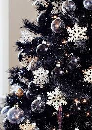 Black Christmas Tree Decorations 2014 Crystal Snowflake