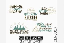 Camping Svg Camper Travel Mountains Camp Campfire Drawing Happy Adventure Cricut