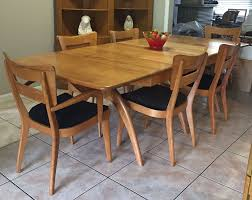American Of Martinsville Dining Room Set by Mid Century Modern Heywood Wakefield Table Whalebone Dining Room