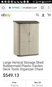 Rubbermaid Vertical Storage Shed by Rubbermaid Large Vertical Outdoor Storage Shed Home U0026 Garden In