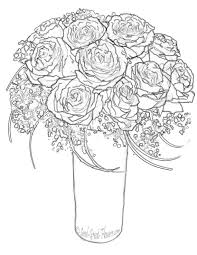 Stunning Rose Coloring Books Pictures Printable Pages Roses