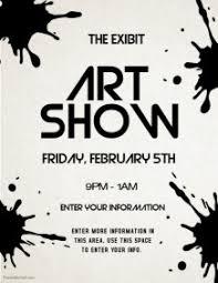 Customizable Design Templates For Art Show
