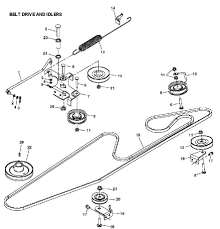 Craftsman Lt2000 Drive Belt Diagram by Belts John Deere Lawn Mower All About Belt