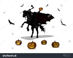 Free Headless Horseman Pumpkin Template by Vector Illustration Cartoon Ghost Knight Headless Stock Vector