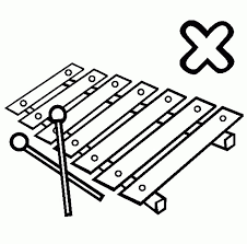 Letter X Is For Xylophone Coloring Pages