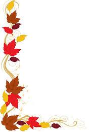 fall leaves clipart corner black outline 2