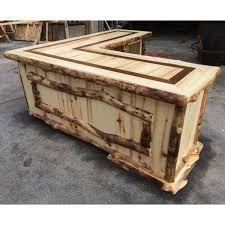 Beaver Creek Aspen L Shaped Rustic Desk