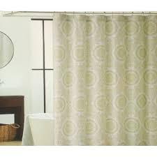 Shower Curtains Fabric Green Medallion