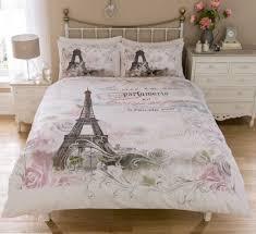 Vintage Paris Bedding Twin Full Queen Duvet Cover Set Eiffel Tower