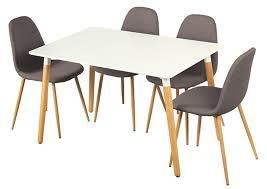 table et 4 chaises table 4 chaises otis blanc chene
