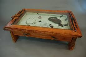 Excellent Coffee Table With Display Case 5855 Pertaining To Popular