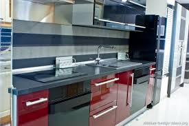 Black And Red Kitchen Designs Simple Decor White Modern Model Design For Small Room In Corner Houses