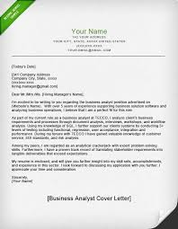 Cover Letter Example Business Analyst Park CL