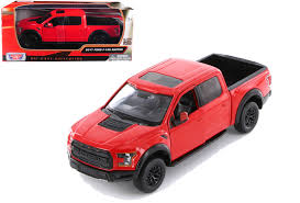 100 Ford Raptor Truck 2017 F150 Red 124 Scale Diecast Model By