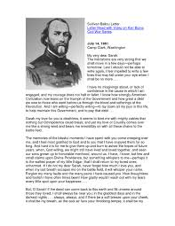 Sullivan Ballou Letter to his wife Sarah one of the most