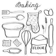 dessin ustensiles de cuisine ustensile de cuisine peinture sur