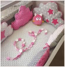 patron tour de lit bebe tour de lit bébé nuage fuchsia blanc et gris linge de lit