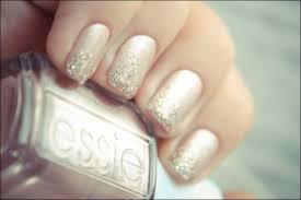 Light Glitter Nail Polish Inspiration For The Wedding Bride