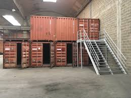 100 40ft Shipping Containers 40FT Coupled Shipping Containers With Stairs References Mechanic