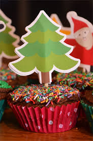 Christmas Tree Cupcake Topper