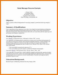 Retail Resume Summary Example Inspirational Manager Cv Template Examples