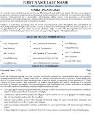 Marketing Manager Resume Sample Template