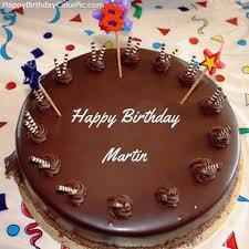 Beautiful Happy Birthday Martin Cake 8th Chocolate Happy Birthday Cake For Martin