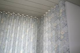 Ceiling Mount Curtain Track by Corner Ripplefold Drapes Note The Flush Ceiling Mounted Track