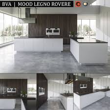 Kitchen BVA Mood Legno Rovere Render Vray Corona Archives