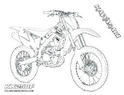 Bike Coloring Pages Dirt Drawing Medium Size Of