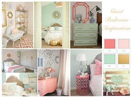 Guest Bedroom Inspiration Coral Mint and Gold perfection