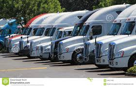 Row Of New US Trucks Stock Image. Image Of Transport - 59621463