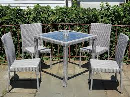 Patio Resin Outdoor 5 Pc Wicker Set 4 Side Chairs And Square Dining Table.  Gray Adams Manufacturing Quikfold White Resin Plastic Outdoor Lawn Chair Semco Plastics Patio Rocking Semw 5 Pc Wicker Set 4 Side Chairs And Square Ding Table Gray For Covers Sets Tempered Round 4piece Honey Brown Steel Fniture Loveseat 2 Sku Northlight Cw3915 Extraordinary Clearance Black Bar Rattan Small Bistro Pa Astonishing And Metal Suncast Elements Lounge With Storage In