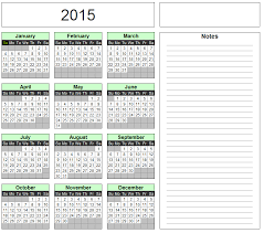 excel monthly calendar 2015 Expinanklinfire