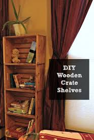diy bookshelf from unfinished wooden crates frugal upstate