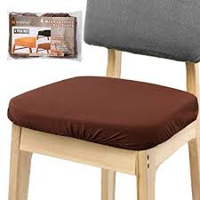 Voilamart Chair Seat Covers Dining Cover Stretchable Soft Protectors Slipcovers For Bar
