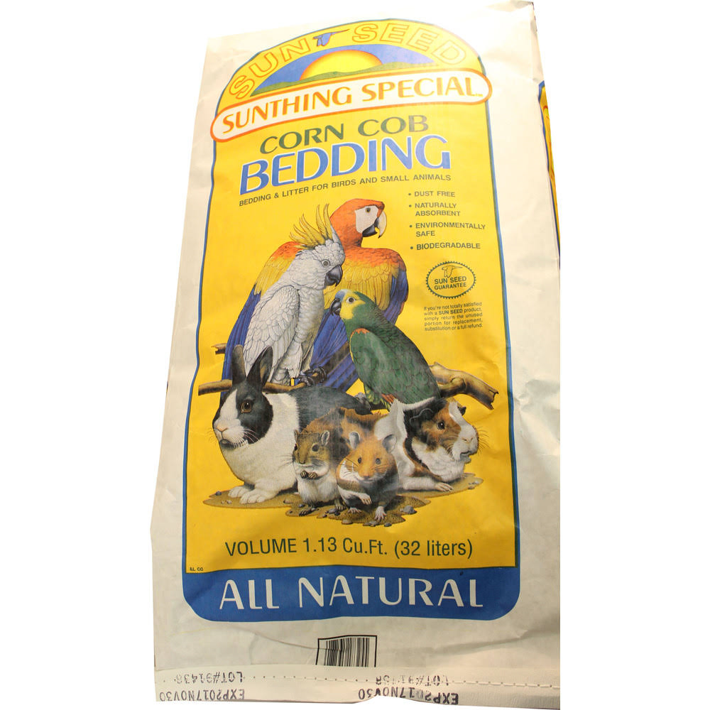 Sunseed Corn COB Bedding - 25 Pound