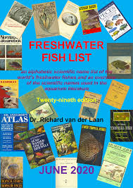 freshwater fish list june 2020