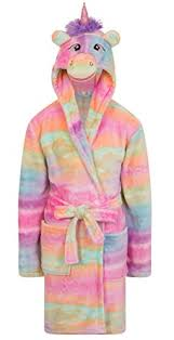 robe de chambre luxe filles polaire licorne arc en ciel multicolore robe de chambre de