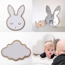 großhandel neue silber wand dekor spiegel für baby raum kinder schlafzimmer dekoration hase wandspiegel für ihr cleveres baby raoying8888 8 93