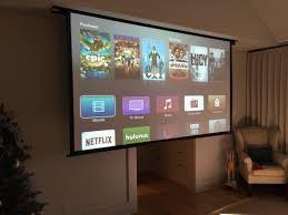 drop down 132 projector screen in your bedroom um yes please