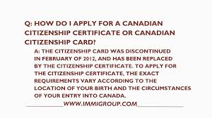 Canadian Certificate Of Citizenship Replacement