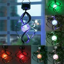 color changing solar powered garden light outdoor courtyard