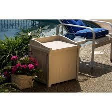Suncast Resin Deck Box 50 Gallon by Suncast 22 Gallon Light Taupe Resin Small Storage Seat Deck Box