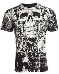archaic by affliction mens t shirt killroy skull tattoo biker gym