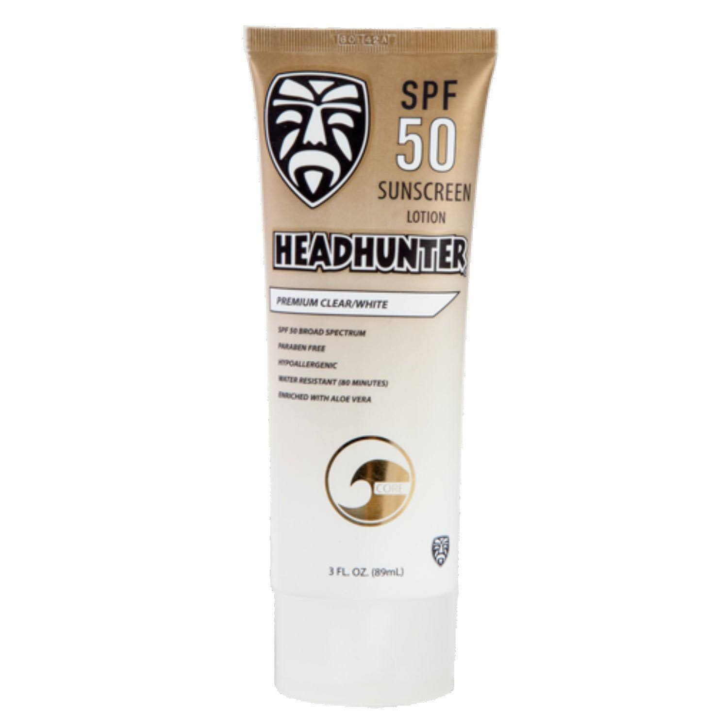 Headhunter SPF 50 Sunscreen Clear 3oz