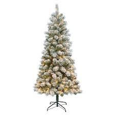 St Nicholas SquareR 7 Ft Pre Lit Flocked Pinecone Slim Artificial