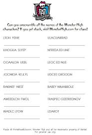 Astonishing 1000 Ideas About Monster High Games On Pinterest Easy Worksheet Recycleroughlycom
